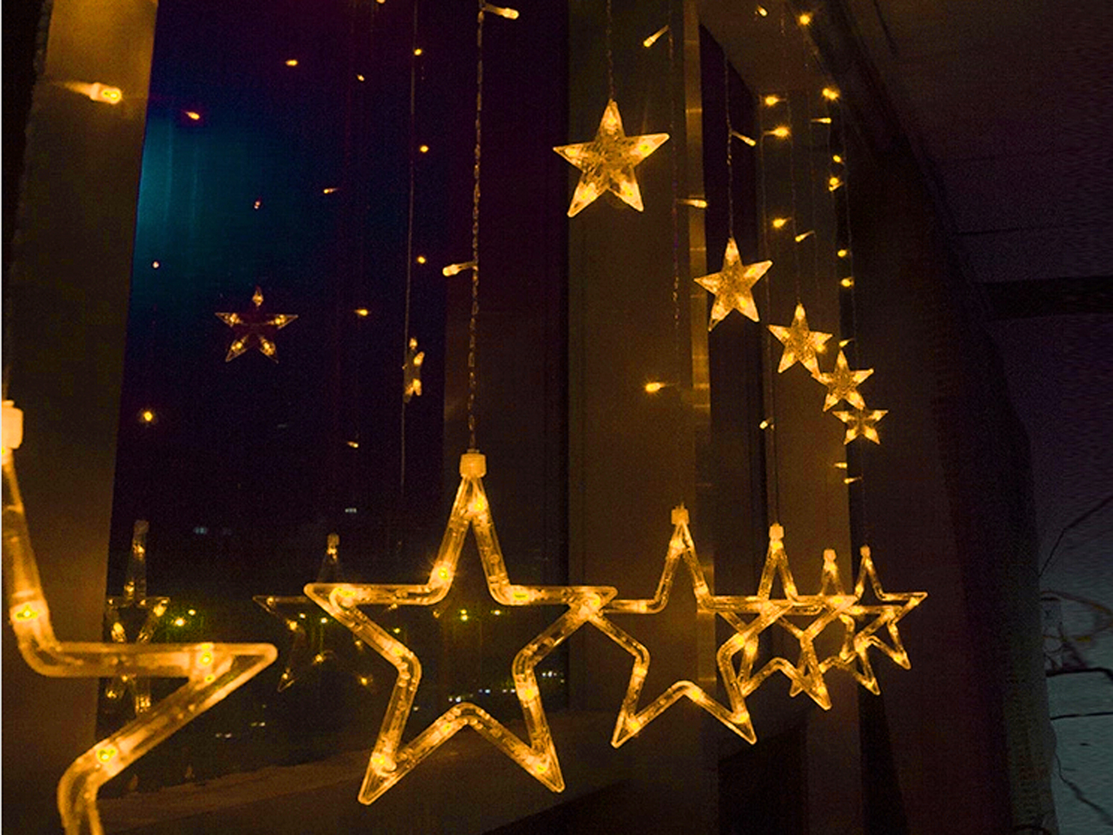 Details about LED Stars Fairy String Lights Indoor Room Xmas Christmas Party Decor Waterproof