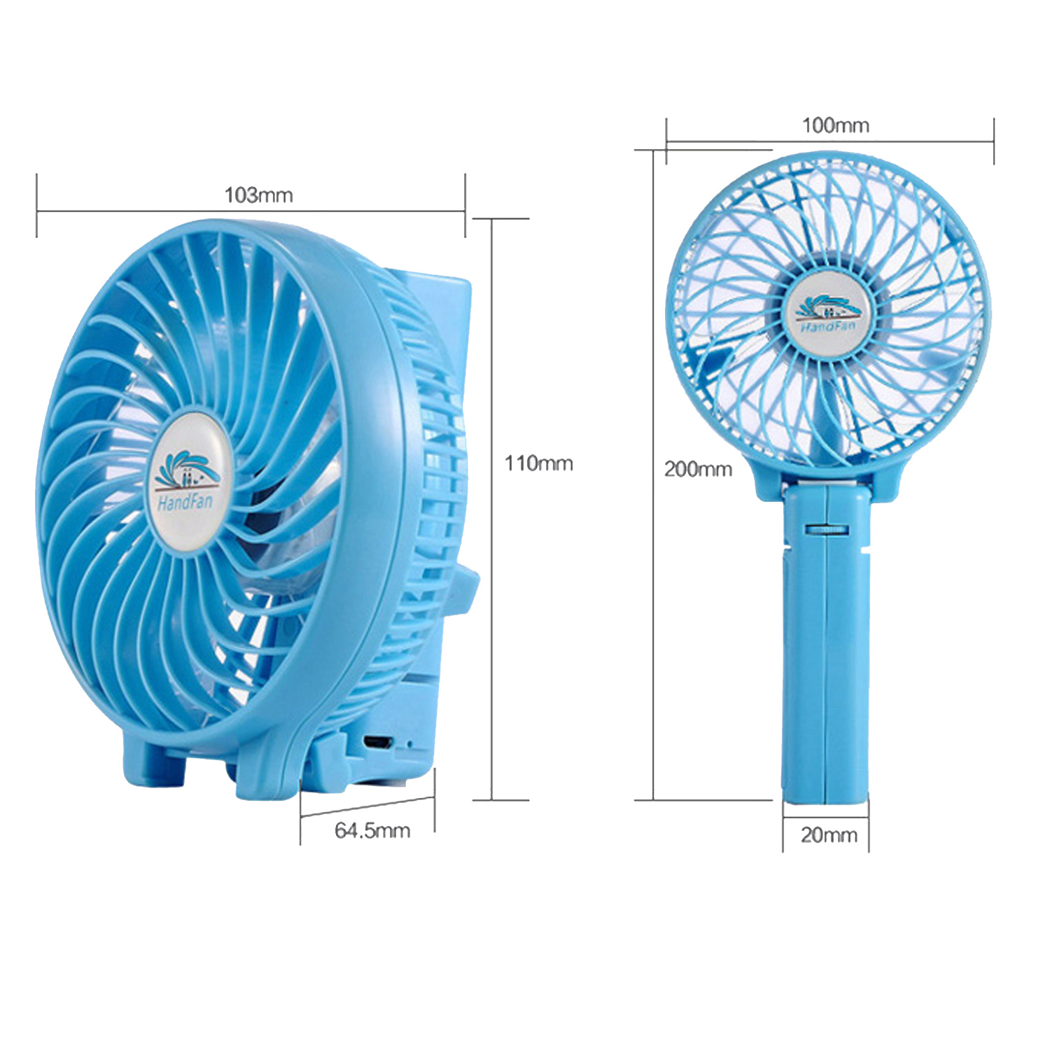 Mini Portable Hand Held Desk Fan Rechargeable Cooling Usb