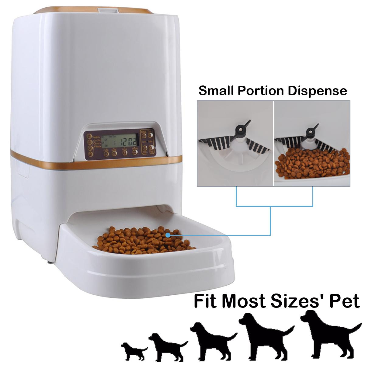 Mascotas Automatico Dispensador De Comida Perro Gato Alimentador Programable Casa Grabadora De Voz 6l Ebay