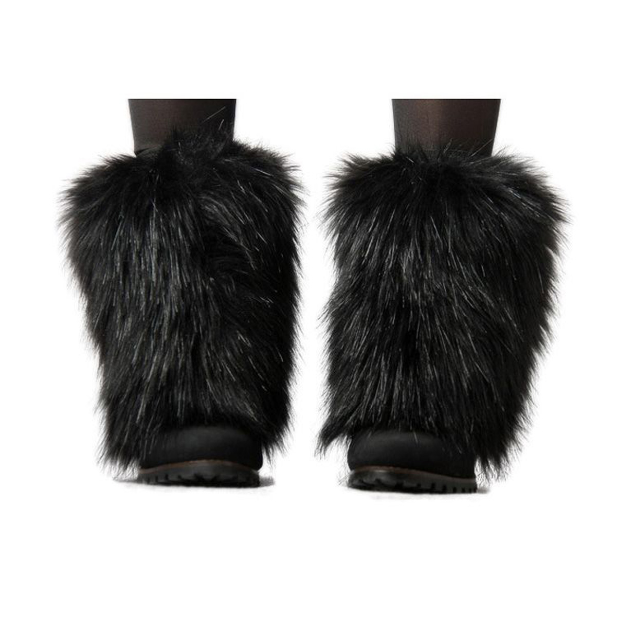 Boot Cuff Fluffy Leg Warmers Soft Furry Faux Fur Boot Toppers Costume Cosplay