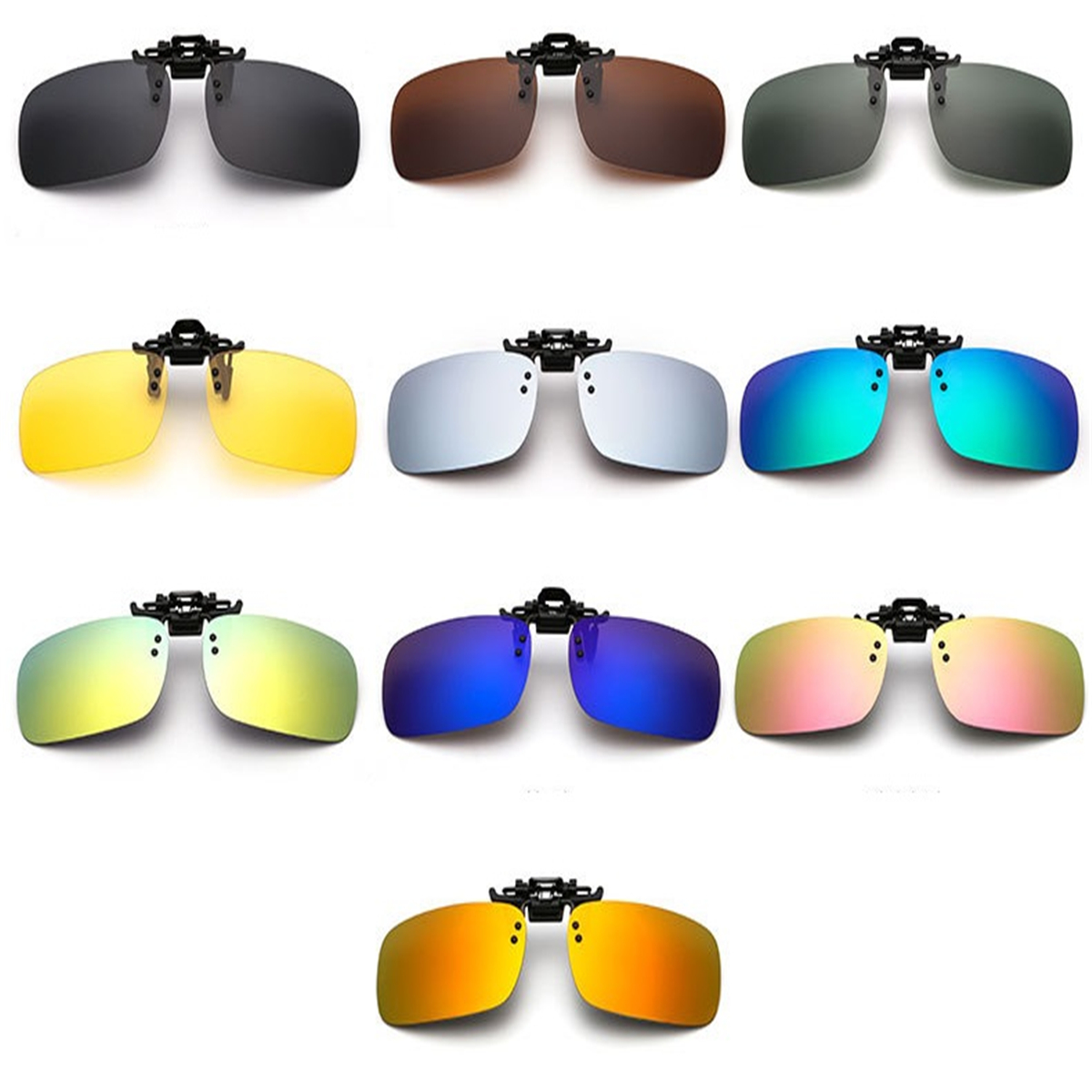 4899db84c216 Clips on Glasses Polarized Day Night Vision UV Lens Fishing Driving  Sunglasses