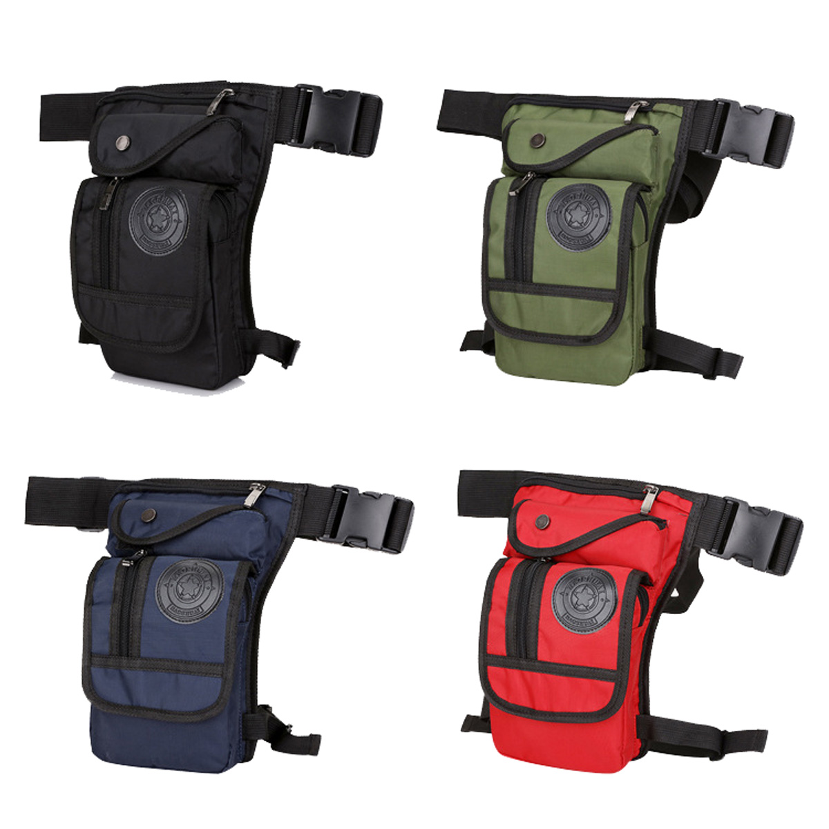 Men Motorcycle Drop Leg Bag Fanny Pack Waist Hip Hiking Tactical Sport Pouch Bag