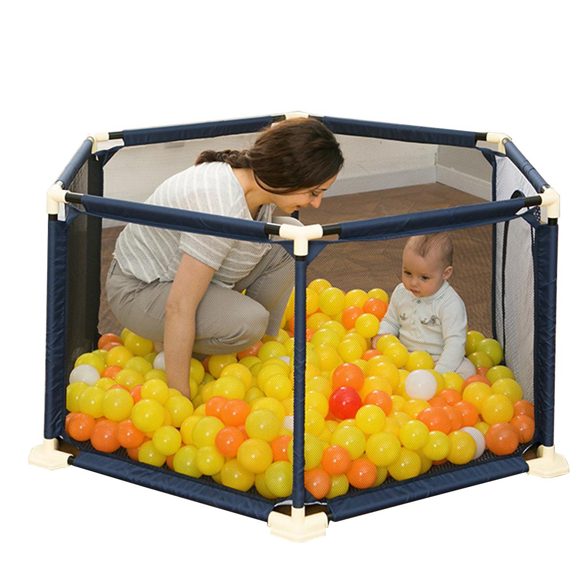 Children playpen Safe Crawling Detachable Playpen Bebe Pool Set Child Safety Fence for Babies Playpen Baby Foldable Child Safety Barrier with 10 Ball