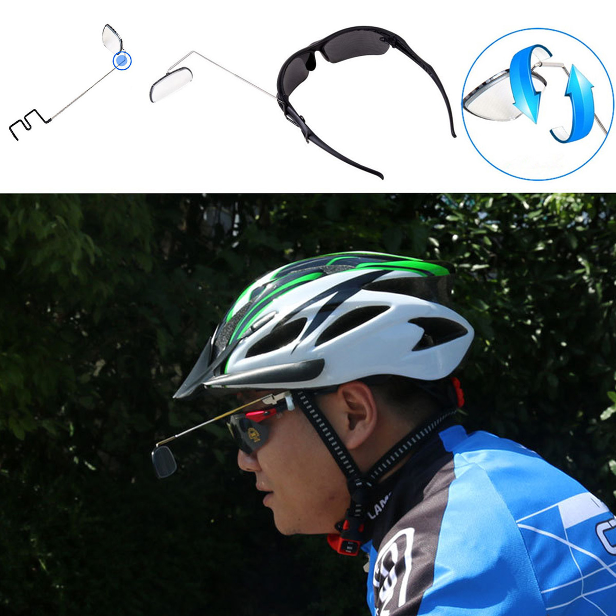Bicycle Helmet Rearview Mirrors Cycling Accessories for Bike Motorcycle Durable