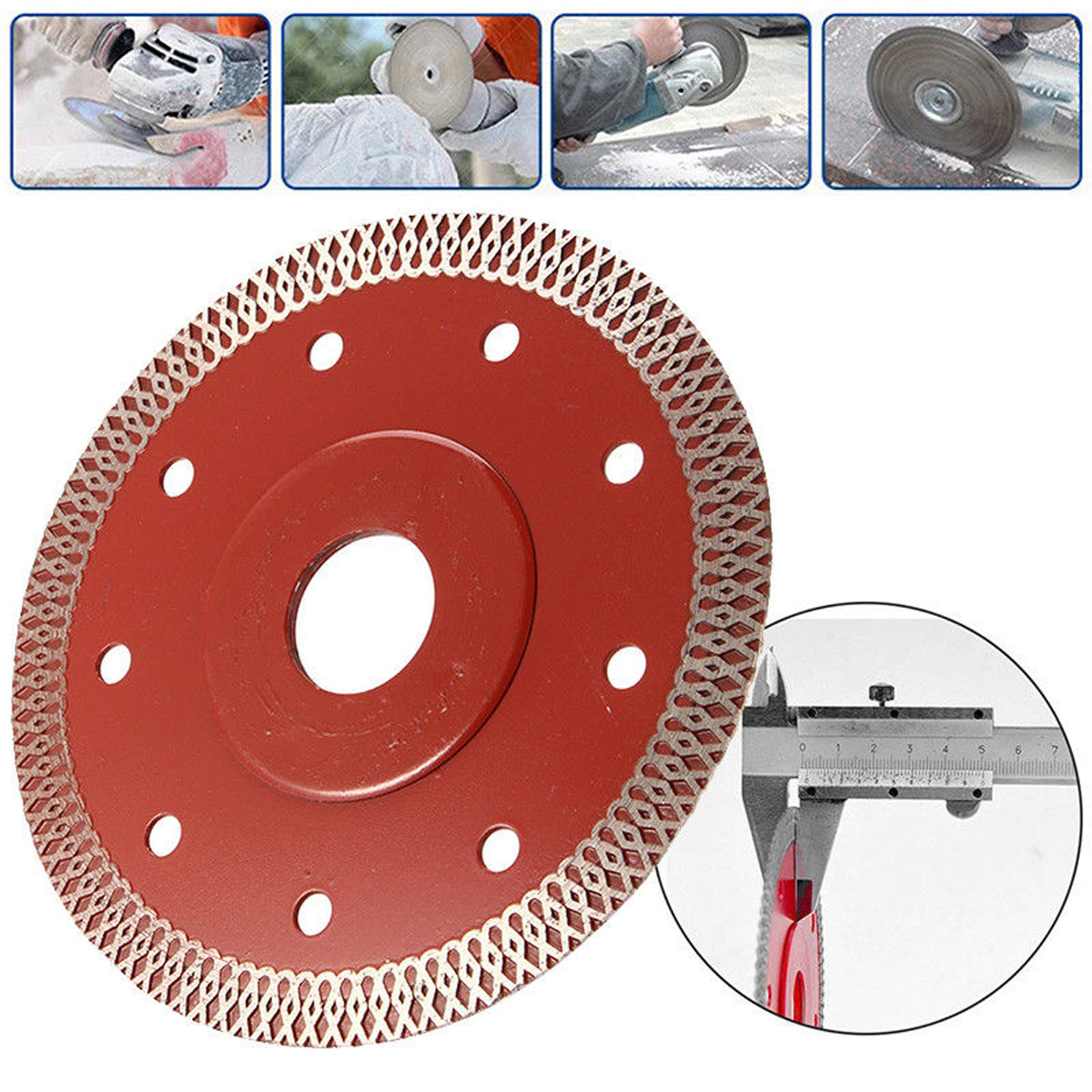 Details about 7.7 Inch Cuts Porcelain Tile Turbo Marble Cutting blade/Disc  Grinder wheel