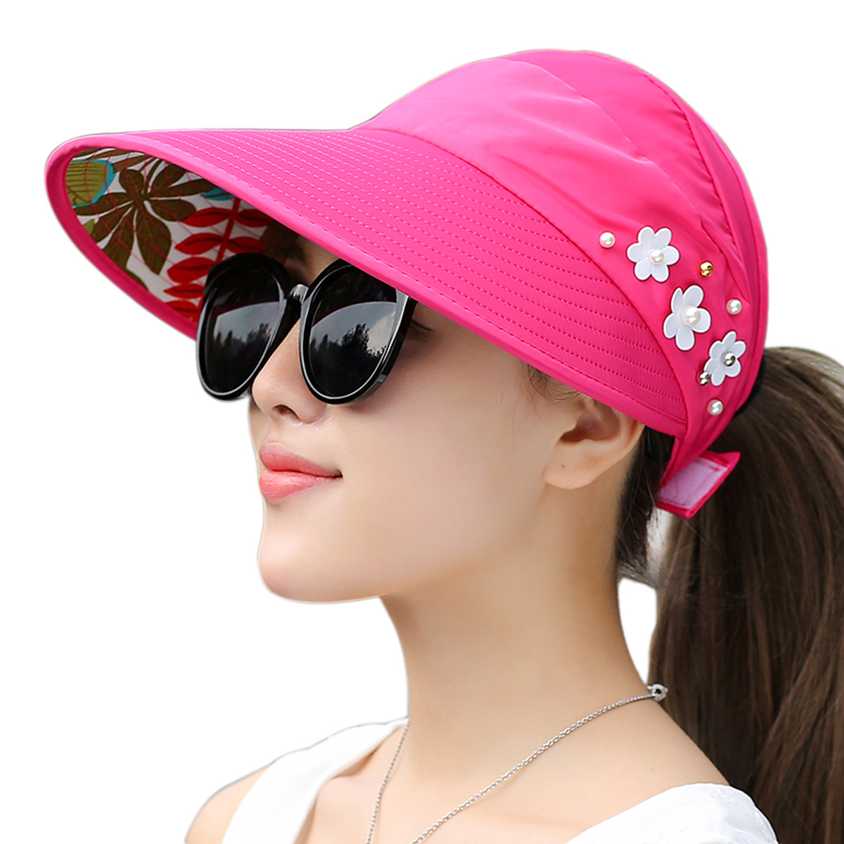 de6a32d50 Details about Womens UV Protection Sun Sports Hat Visor Cap Packable Wide  Brim Hat Tennis 2018
