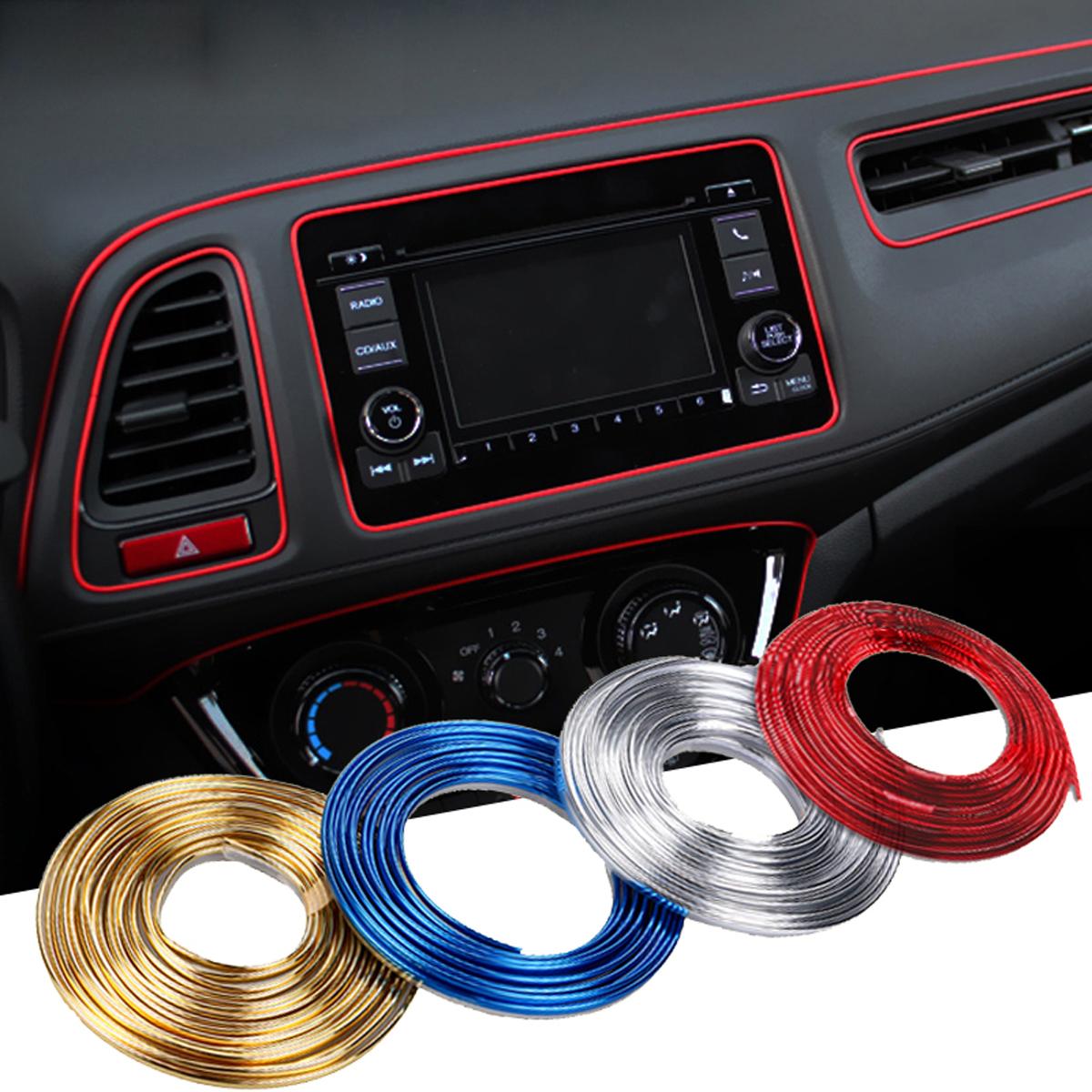5m//Roll Car Interior Moulding Trim Decor Strip Decorative Line Silver Universal