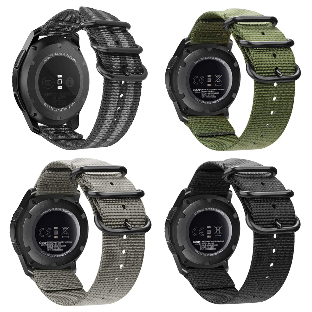 da37e0c97 Details about For Samsung Gear S3 Classic / Frontier Smart Watch Band Wrist  Strap Woven Nylon