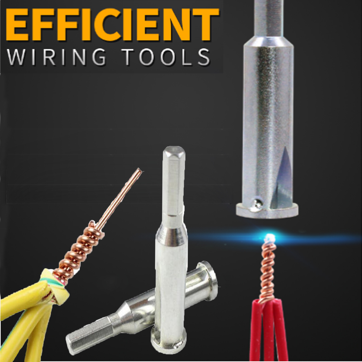 Universal Electrical Twist Wire Stripper Cable Quick Connector For Drill Bit
