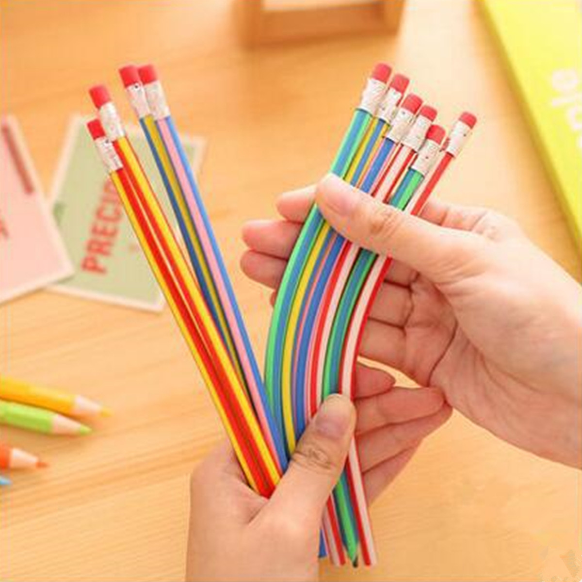 200x Bendy Flexible Soft Pencil With Eraser For Kids Writing School Student best