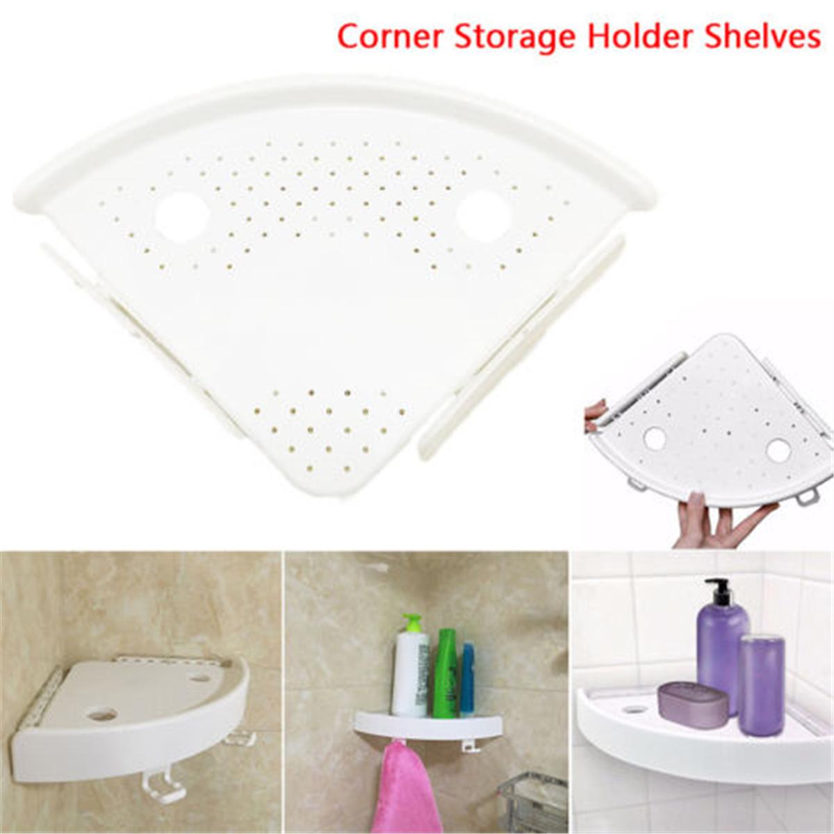 Details About 1pc Shower Corner Shelf Bathroom Corner Caddy Kitchen Wall Mount Storage Rack