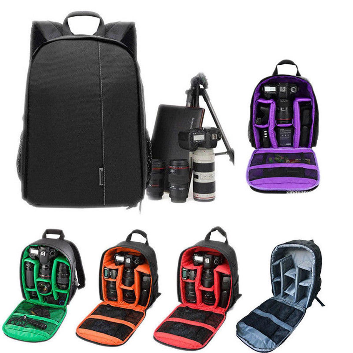 Color : Green Waterproof Shoulder Backpack Padded Shockproof Camera Case Bag for Nikon Orange Camera Bags Cases