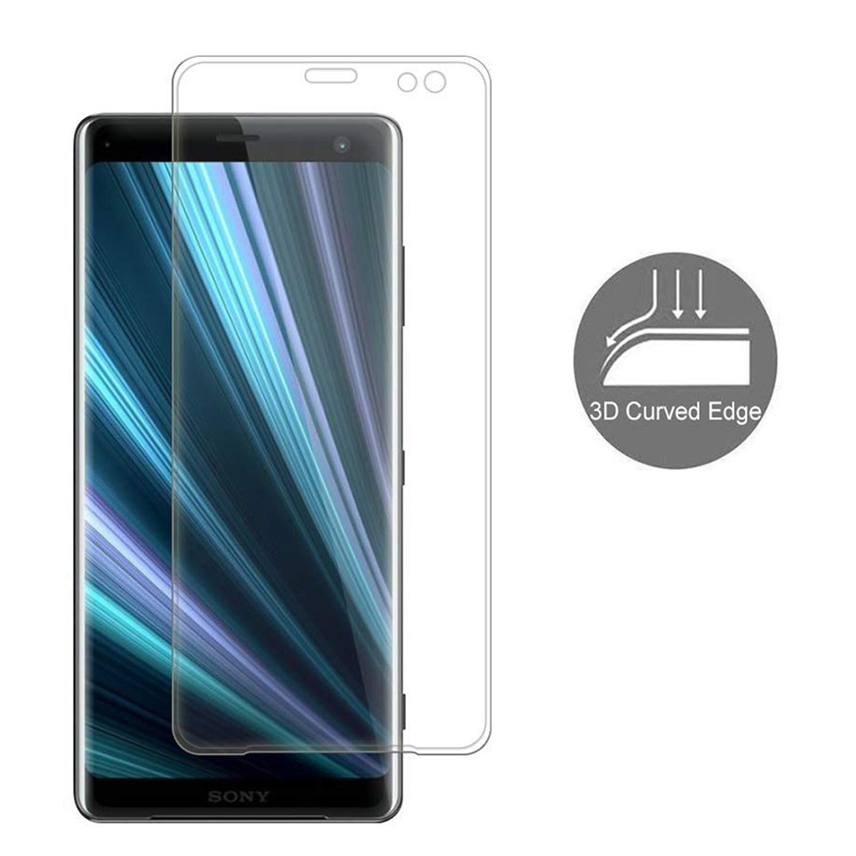 Details about For SONY Xperia XZ3 3D Curved Edge Full Cover Tempered Glass  Screen Protector