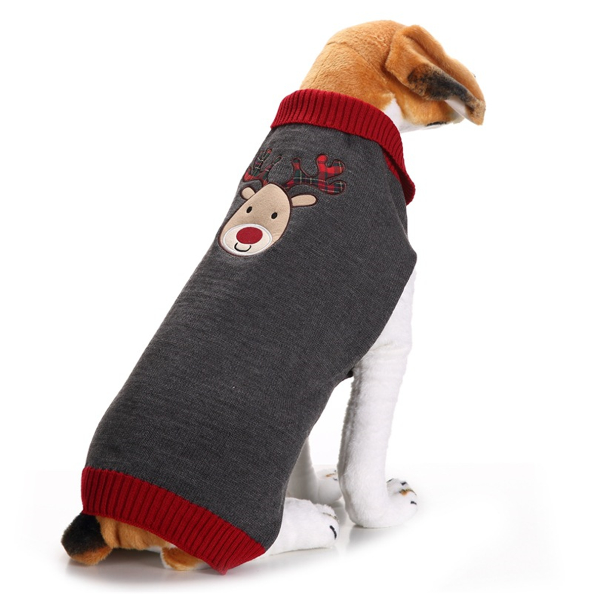 Raking Christmas Knitted Cotton Dog Hoody Turtleneck Sweater Jumper Costume Clothes Apparel Outfit M, Santa Claus