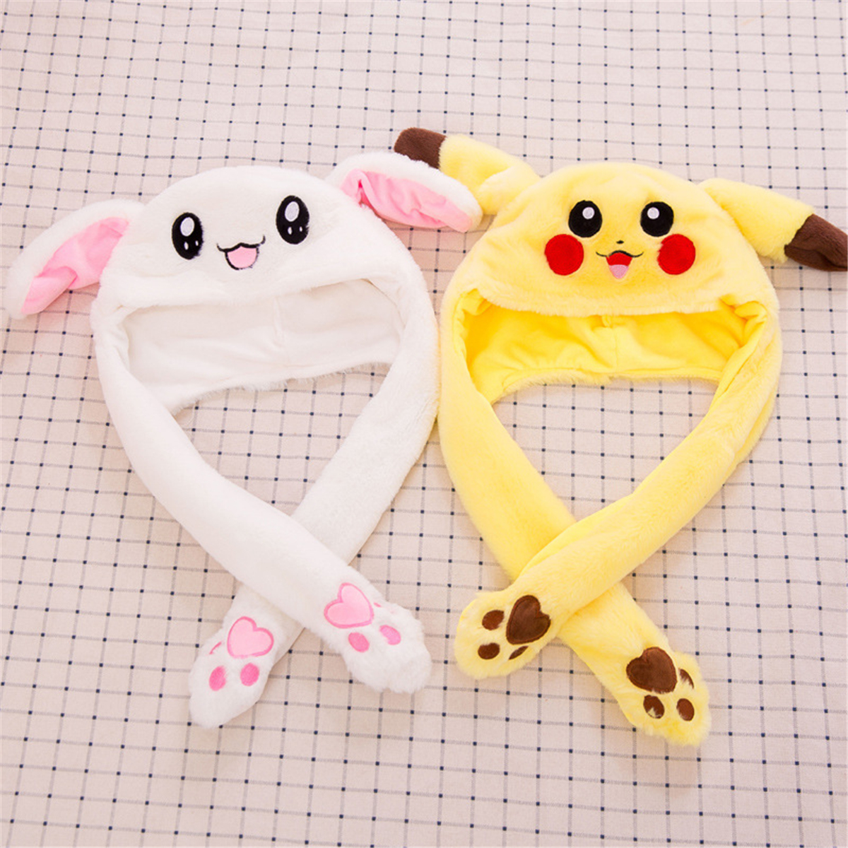 99def9fb Fashion Rabbit Hat Ear Will Move When You Hold The Leg Funny Plush Hat Toy  New