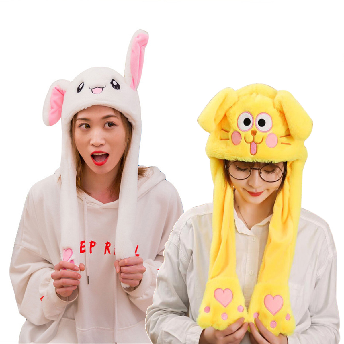 617c1da73 Details about Cute Rabbit Hat Ear Will Move When You Hold The Leg Funny  Plush Hat Chic Hot NEW