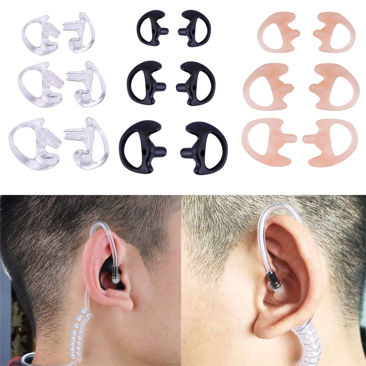 Extra Small Clear Earmold Left And Right Included For Acoustic Tube Earpiece