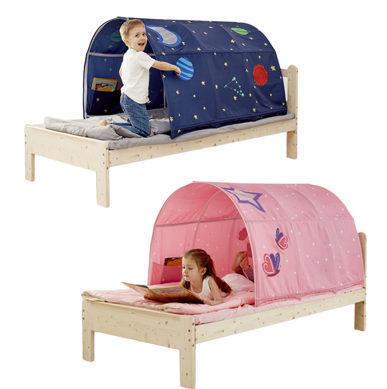 Kids Dream Tent Pop up Wonderland Snow Foldable Castle Playhouse Indoor Play Bed