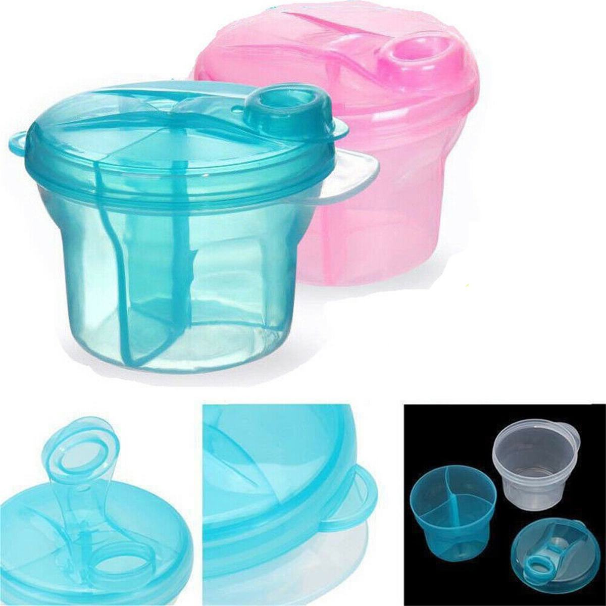 Baby Anti-Spill Snack Candy Bowl Cup Milk Water Container Dispenser BPA Free