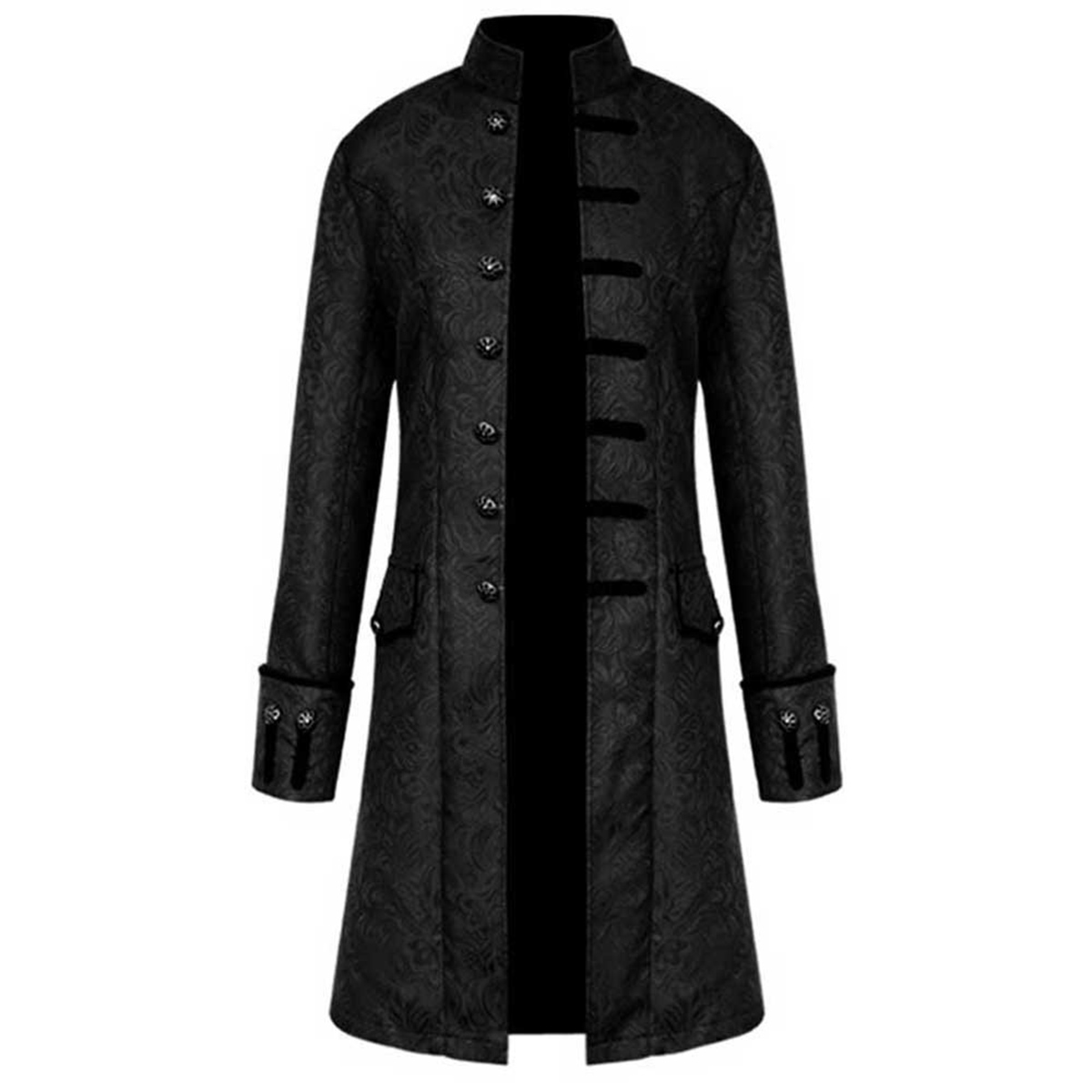 Improved Mens Steampunk Vintage Tailcoat Jacket Gothic Victorian Frock Coat Uniform Costume Pxmoda
