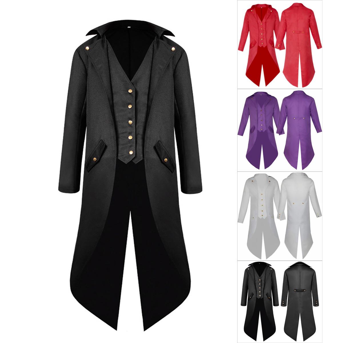 Vintage Men/'s Steampunk Tailcoat Jacket Gothic Victorian Coat Cosplay Suit
