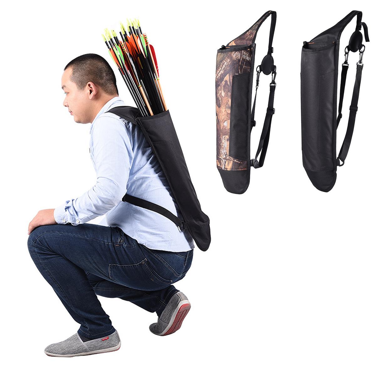 Hot Hunting Back Arrow Quiver Archery Bow Holder Shoulder Belt Bag Pouch Outdoor