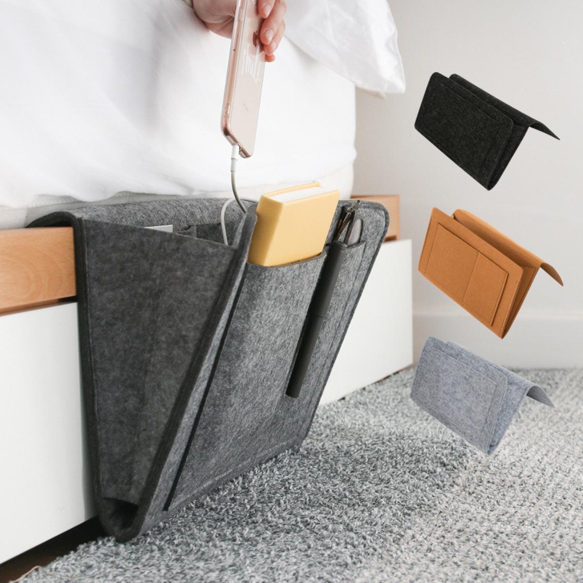 UK Felt Bedside Pocket Hanging Caddy Couch Storage Organizer Bed Holder Pocket