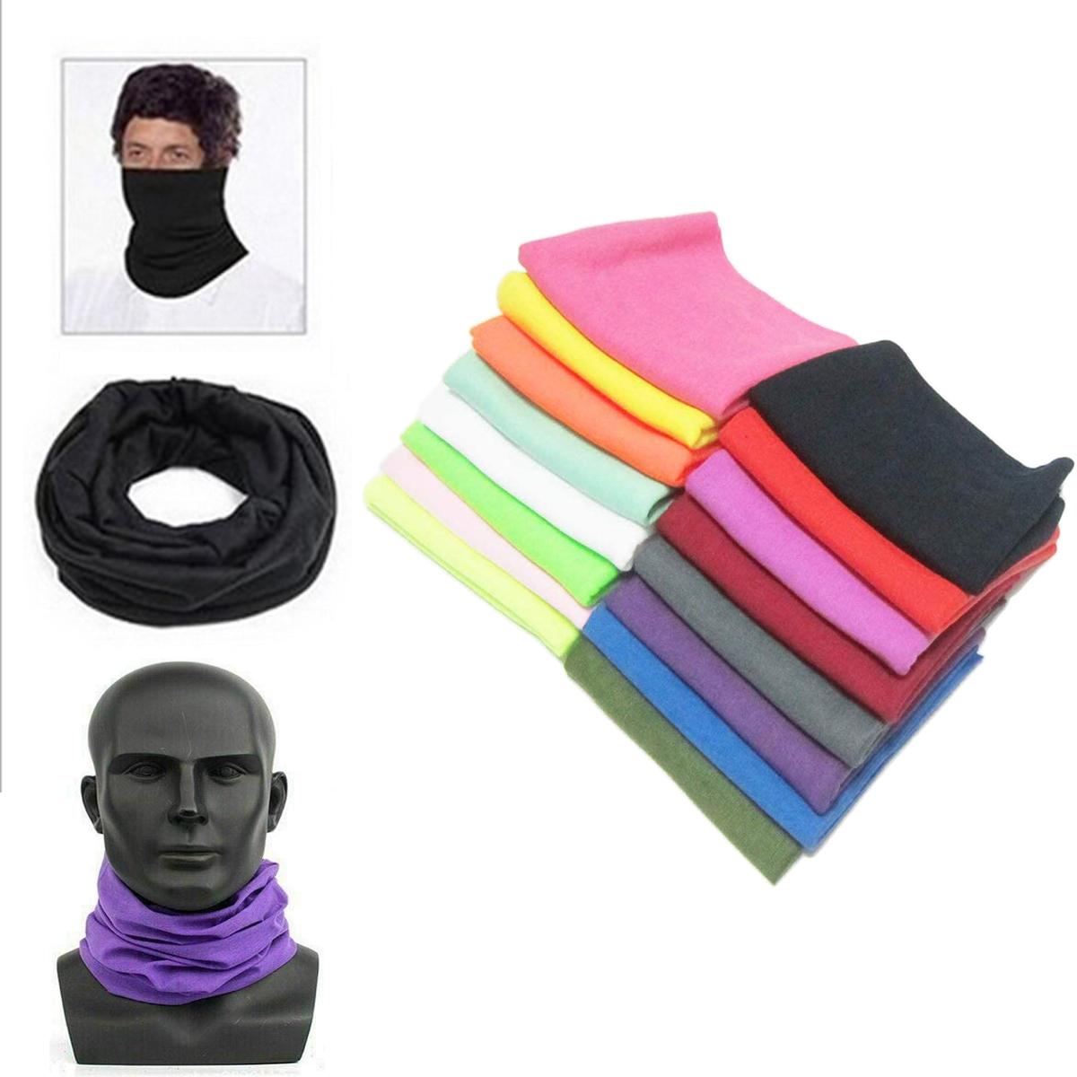 US Bandana Head Face Neck Gaiter Snood Headwear Beanie Tube Scarf Unisex