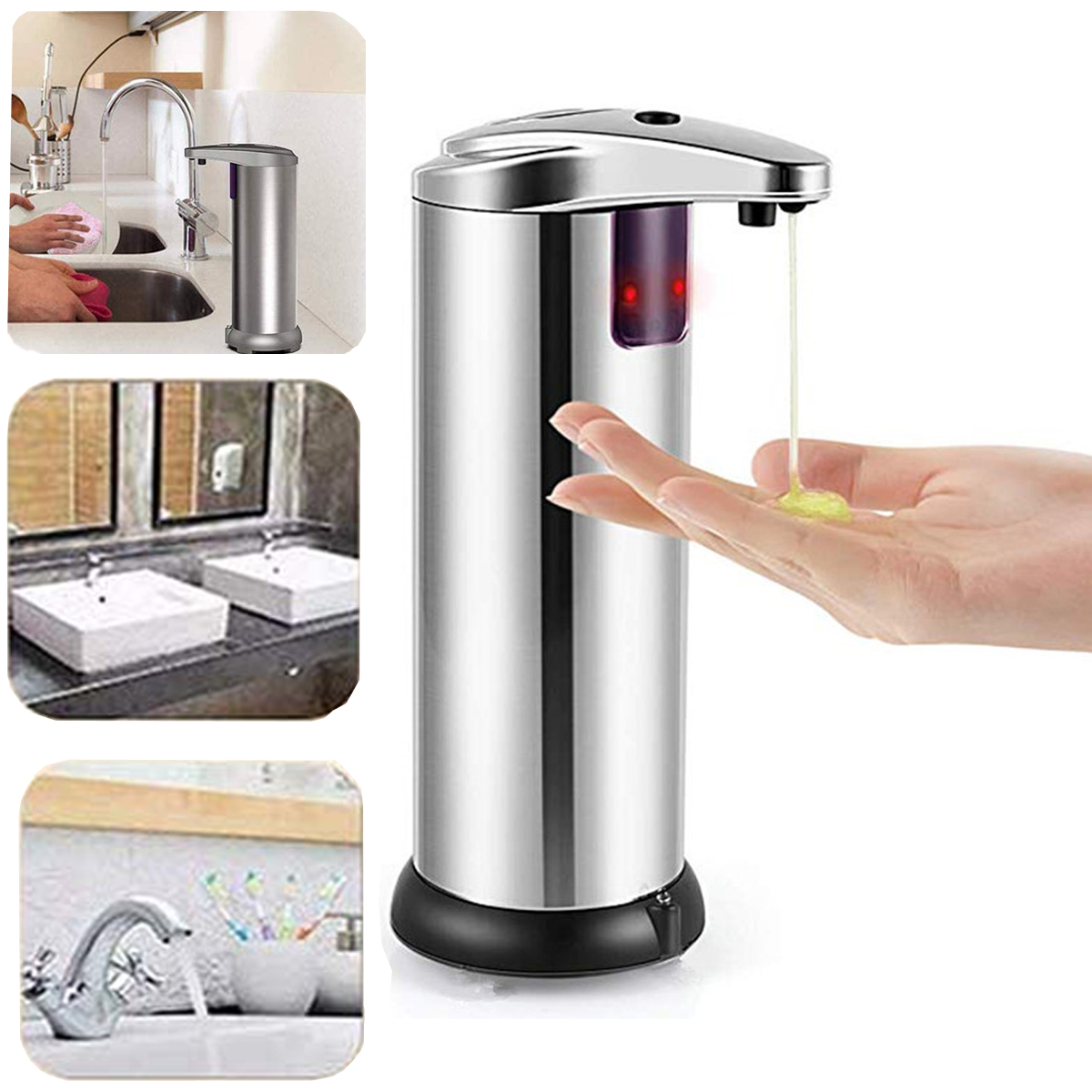 stainless steel hands free automatic sensor touchless soap