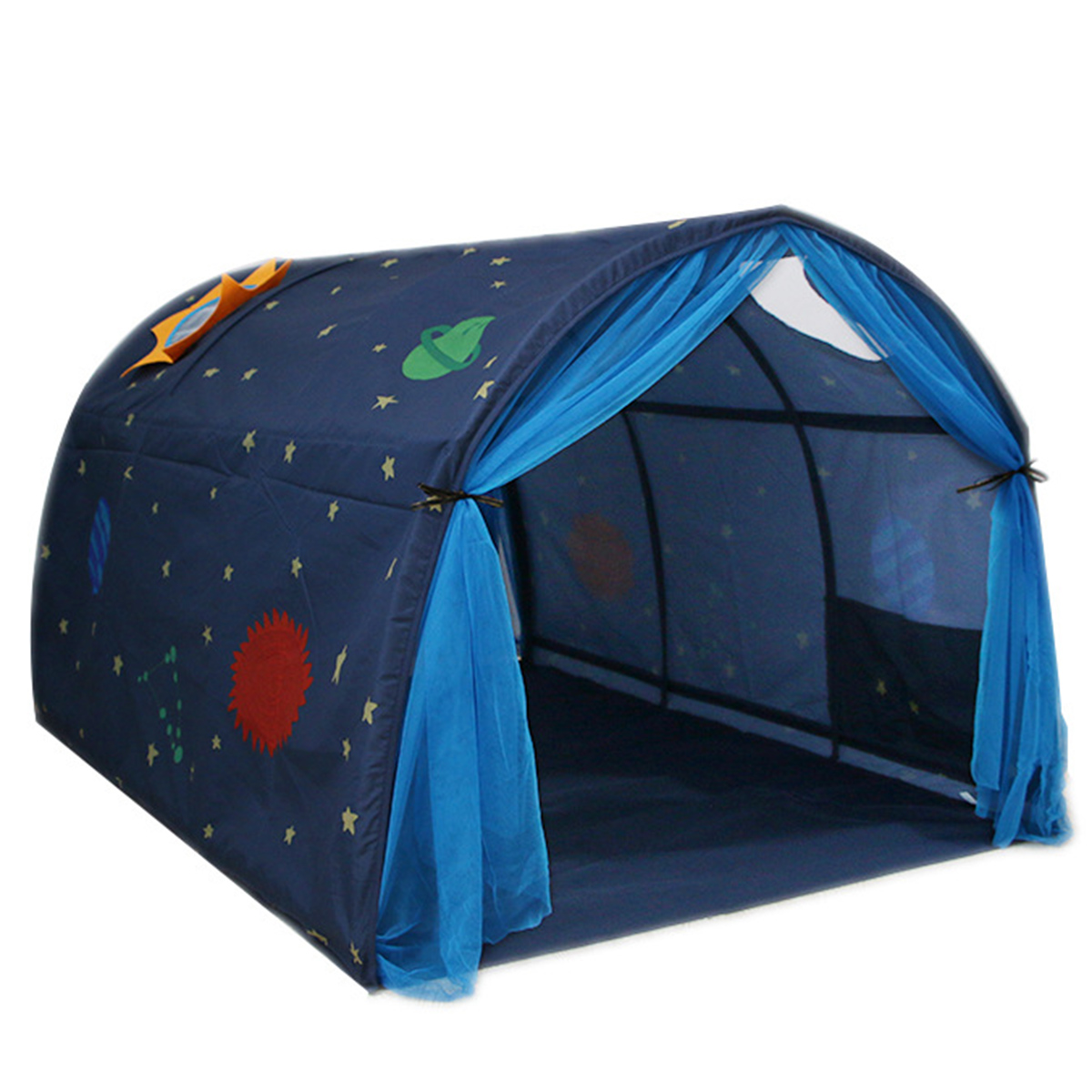 Image of: Hot Bed Tent Dream For Kids Boy Toddler Magical Space Adventure Mattress Indoor Ebay