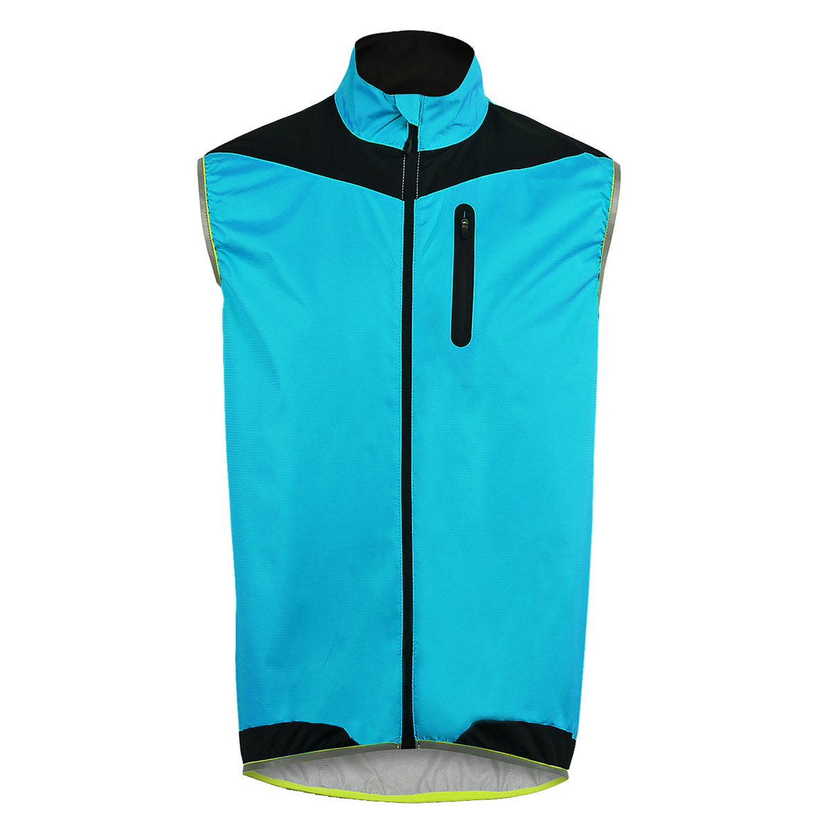 Men Windproof Cycling Vest Sleeveless Gilet Bike Waistcoat Reflective Top Jacket
